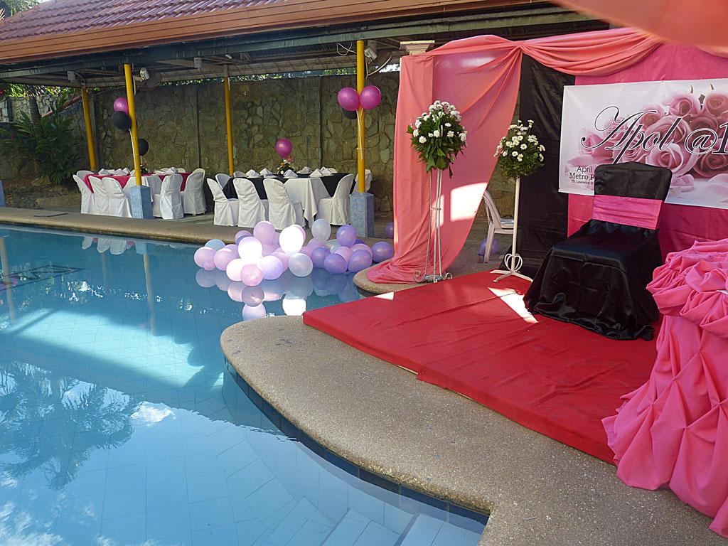 Debut Poolside Pictures Metro Park Hotel Cebu City