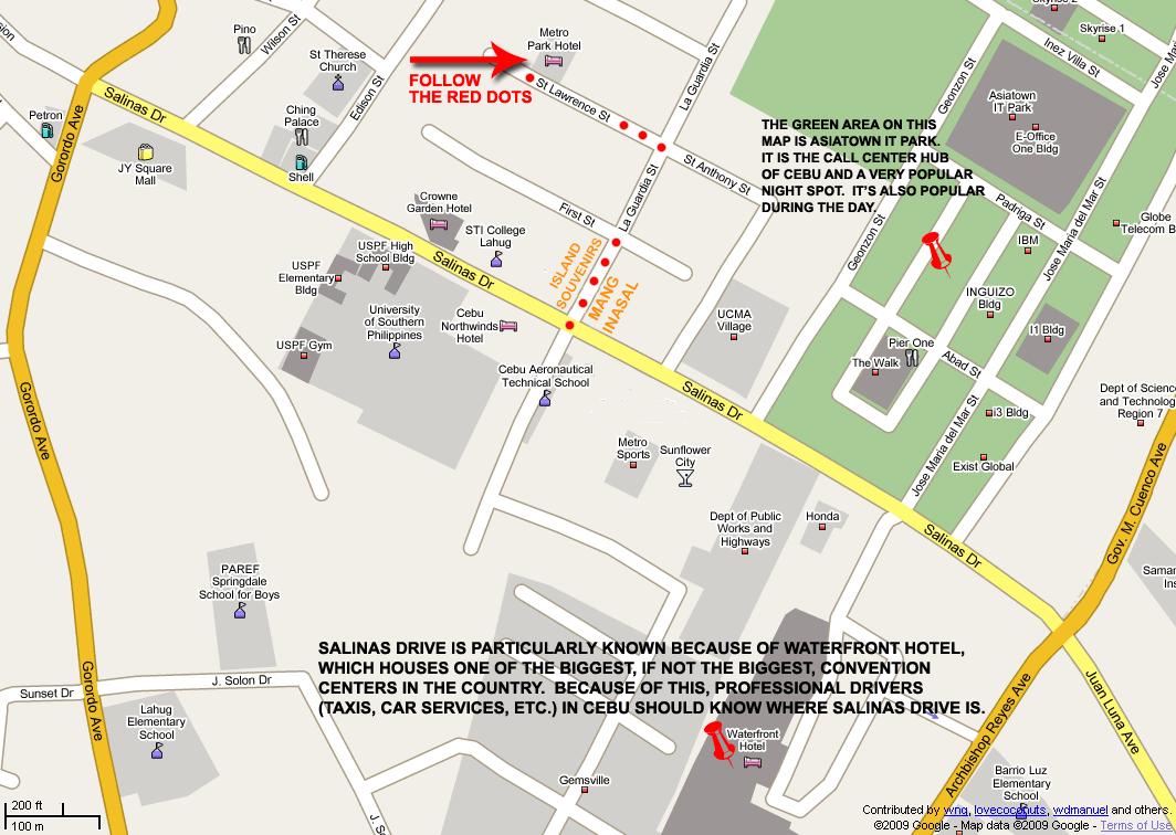 Map - Metro Park Hotel (Cebu City, Philippines)